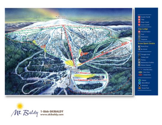 Mt. Baldy ski resort trail map