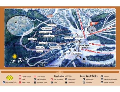 Mt. Baldy ski resort trail map